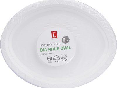 (CL) Dĩa nhựa Oval