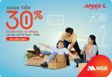 Hoàn tiền 30% tại SPEEDL dành cho chủ thẻ liên kết LOTTE Mart – MSB từ nay đến 31/12/2020