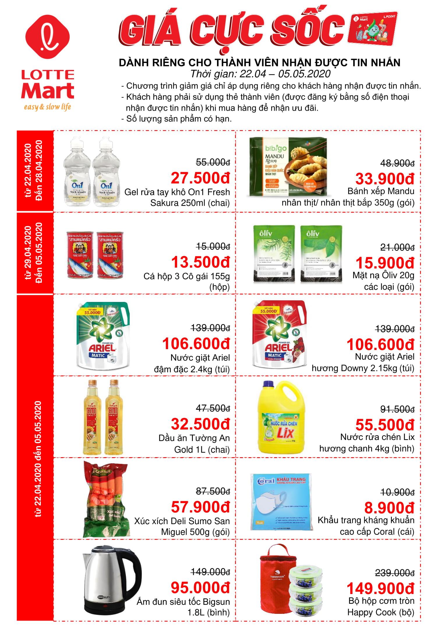 Giá cực sốc 22.04 - 05.05