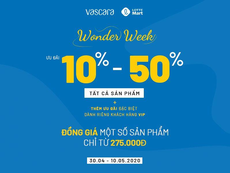 WONDER WEEK| ƯU ĐÃI đến 50% tất cả các sản phẩm