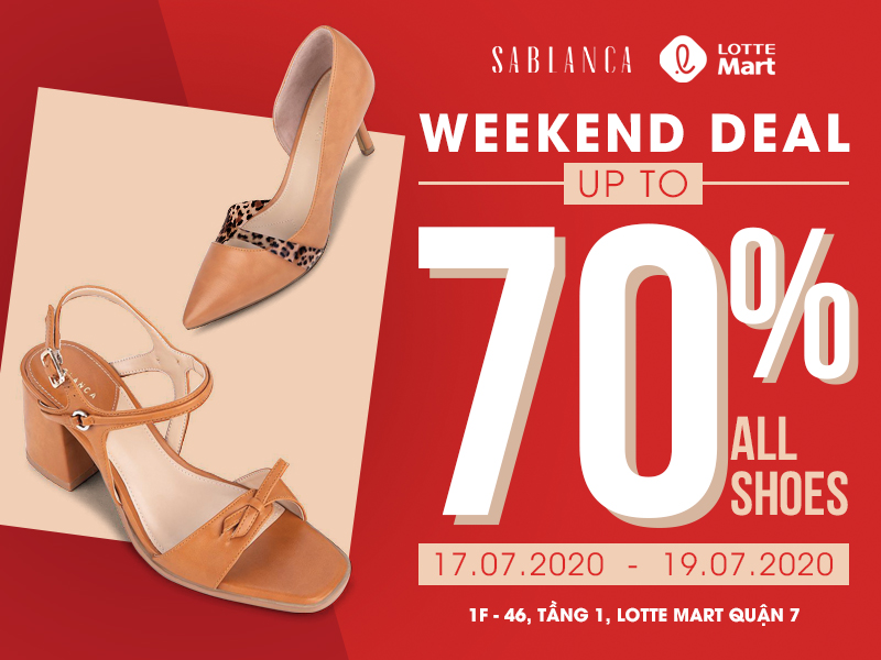 WEEKEND DEAL [CHỈ 3 NGÀY] SALE UP TO 70% ALL SHOES