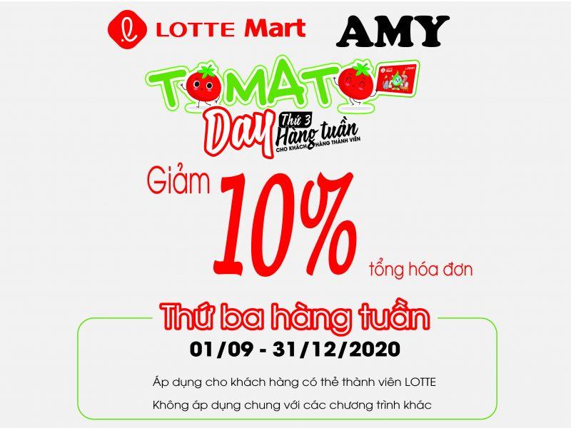 Giảm 10% ngày hội TOMATO DAY