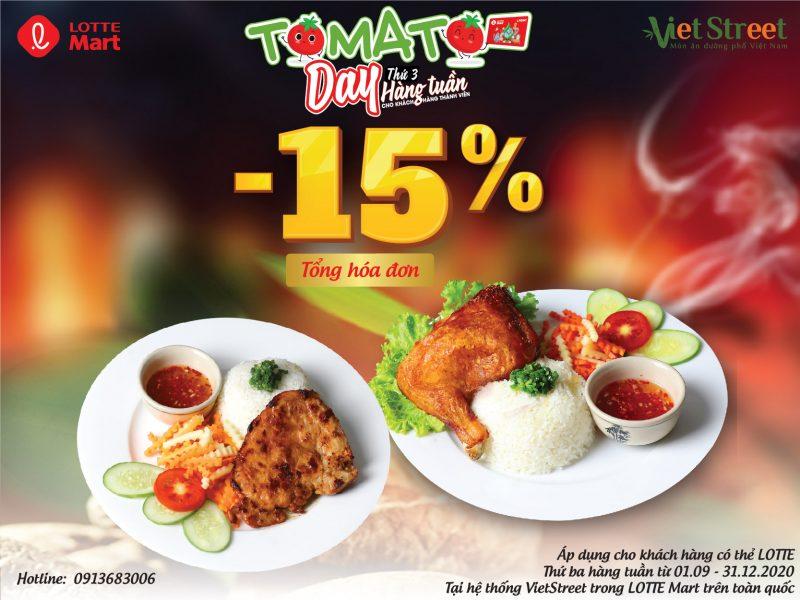 TOMATO DAY - GIẢM NGAY 15%