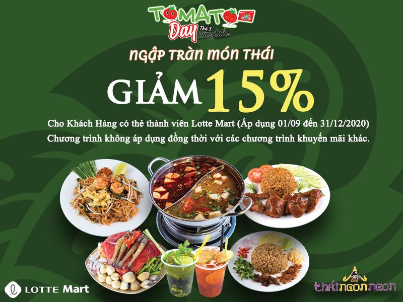 THÁI NGON NGON - GIẢM 15% TOMATO DAY