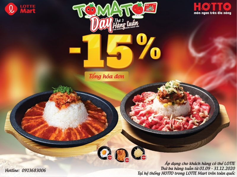 HOTTO - SALE NÓNG 15% TOMATO DAY