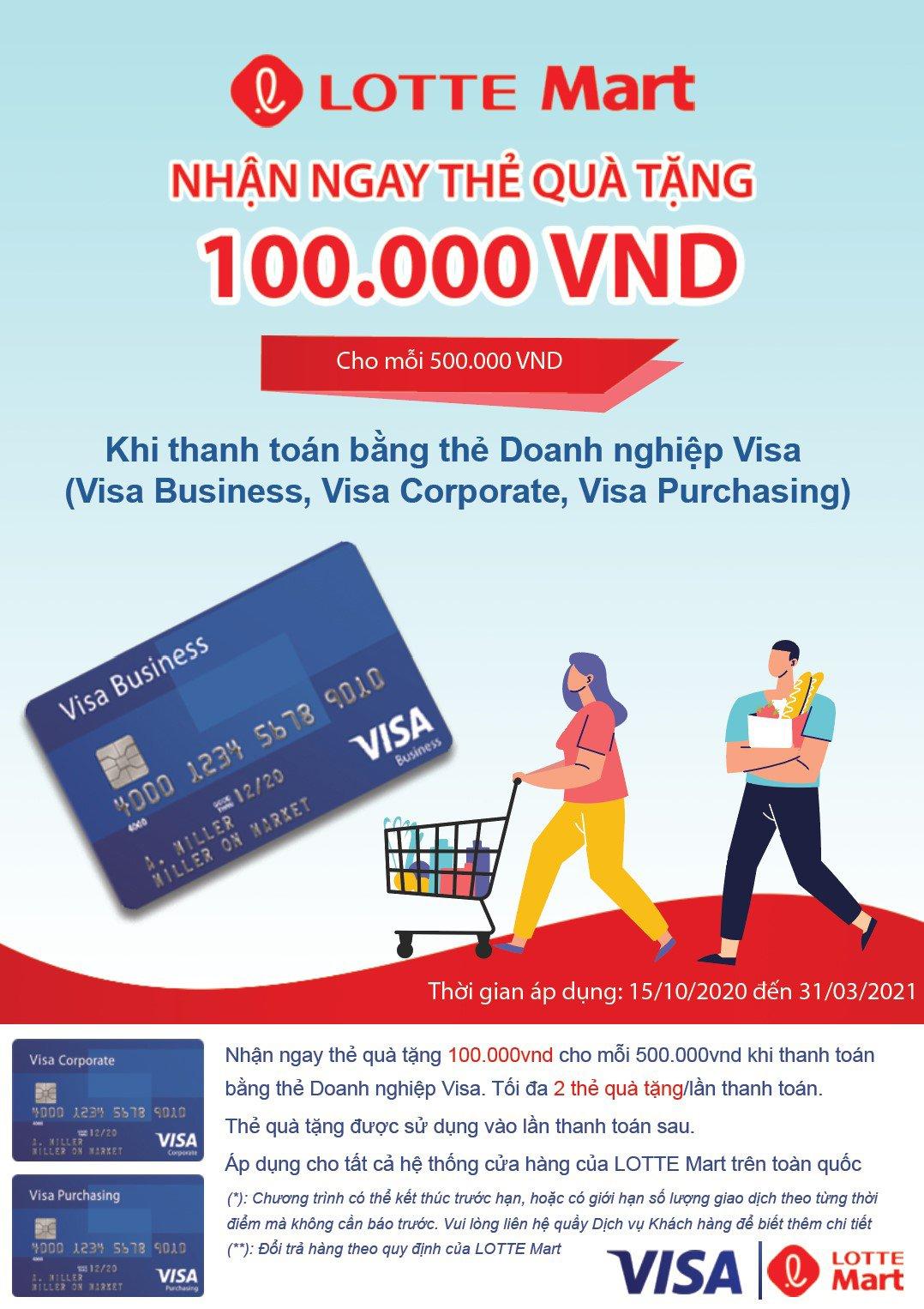 Chương trình ưu đãi cho chủ thẻ Visa tín dụng doanh nghiệp, Visa ghi nợ doanh nghiệp, Visa Business Credit, Visa Business Debit cards