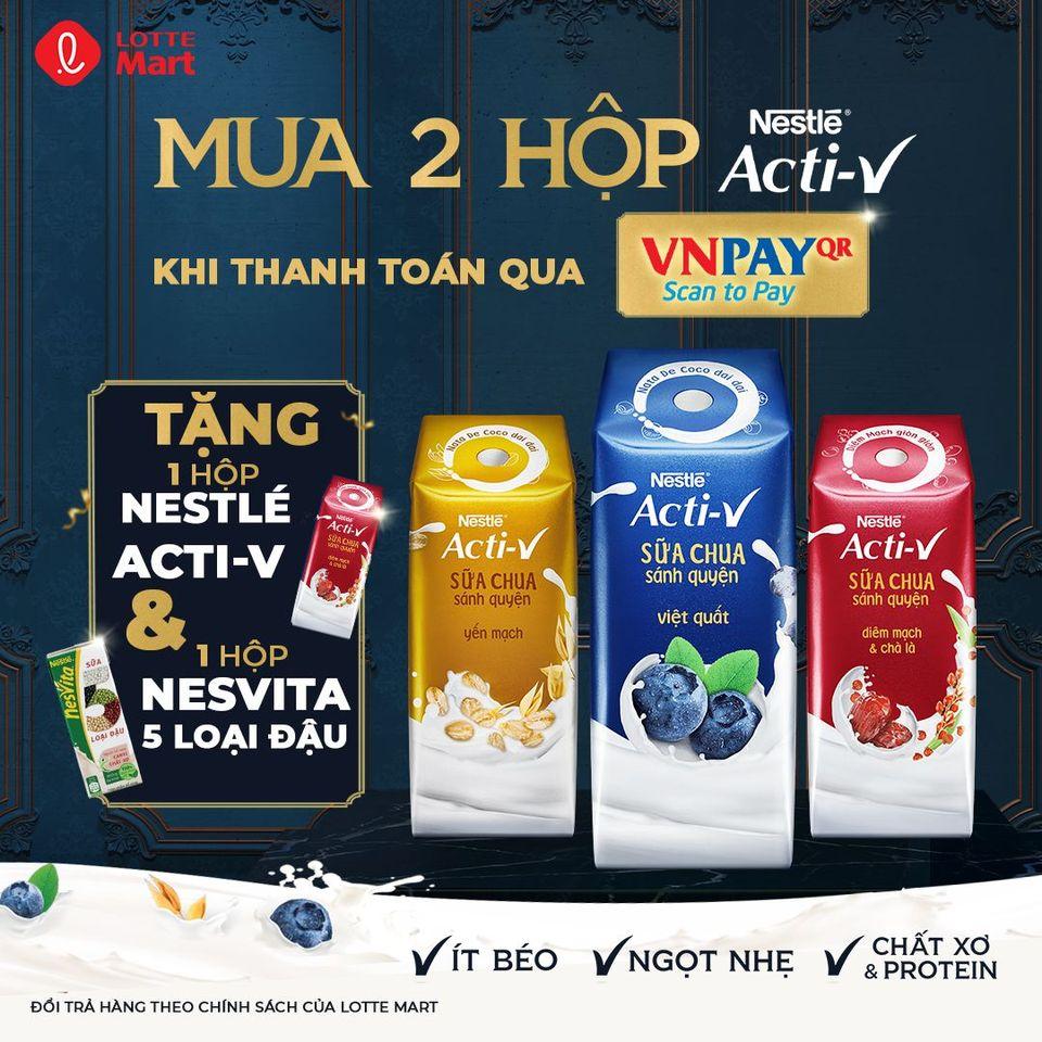 Quét QR khi mua Nestle tại LOTTE Mart Việt Nam,mua 2 được 4