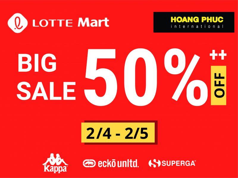 🎉 TƯNG BỪNG KHUYẾN MÃI BIG SALE 50%++ NÓNG BỎNG TAY TẠI LOTTE MART