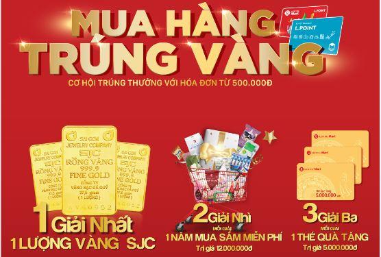"""Thể lệ chương trình khuyến mãi """"MUA HÀNG TRÚNG VÀNG"""" tại LOTTE Mart Nha Trang Gold Coast"""