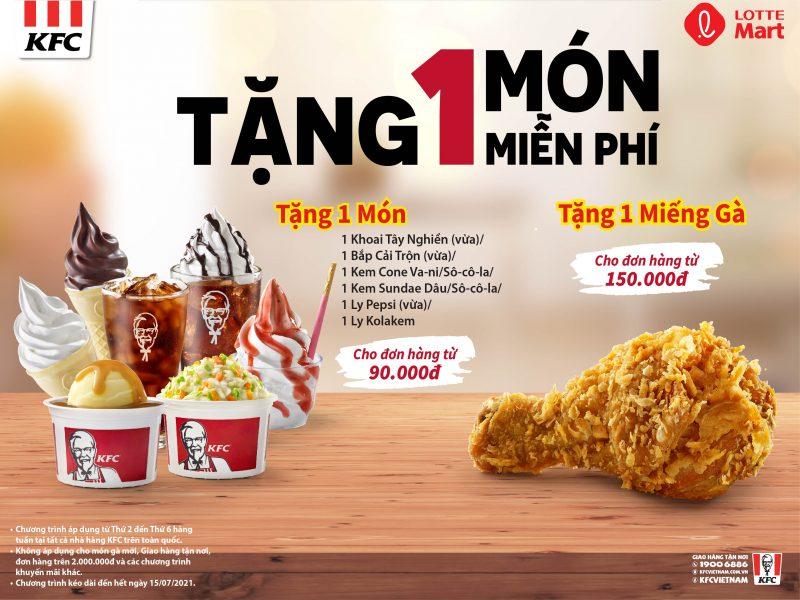 TẶNG 1 MÓN MIỄN PHÍ CÙNG KFC!!!